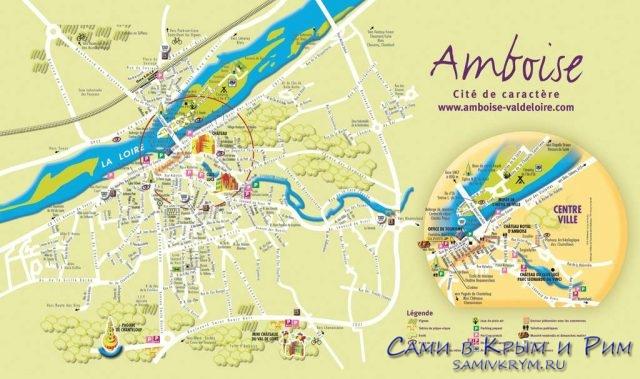 Карта Амбуаза с окрестностями