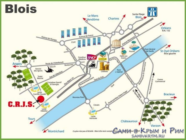 Карта-Блуа-Франция