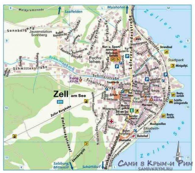Карта-поселка-Цель-ам-Зее
