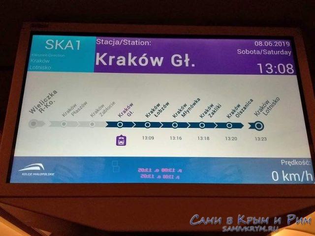 Маршрут поезда в аэропорт