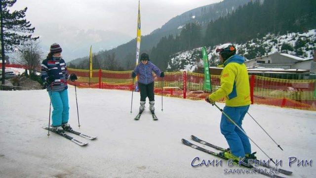 Начало лыжных занятий