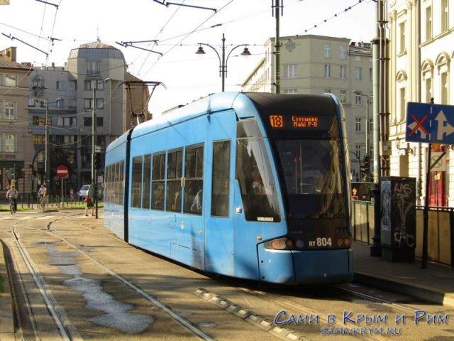 Новый трамваи в Кракове