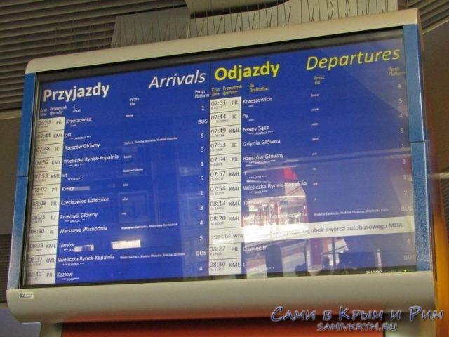 Отправление поездов