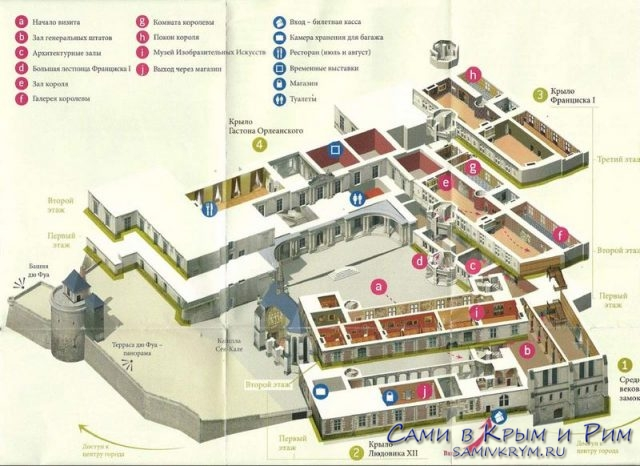 План дворца и внутренних помещений
