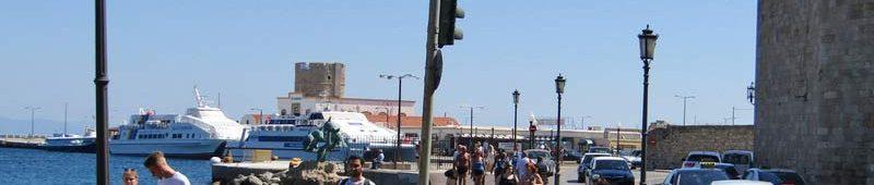 Прибитие туристов на Родос