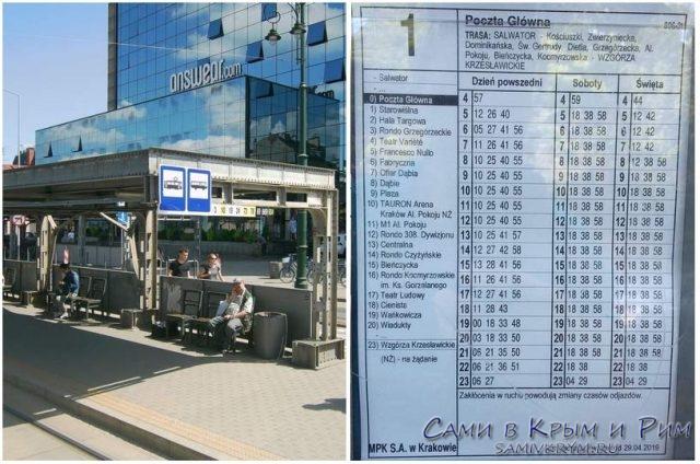 Расписание-трамваев-на-остановке