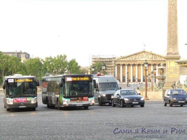 Рейсовые автобусы Парижа