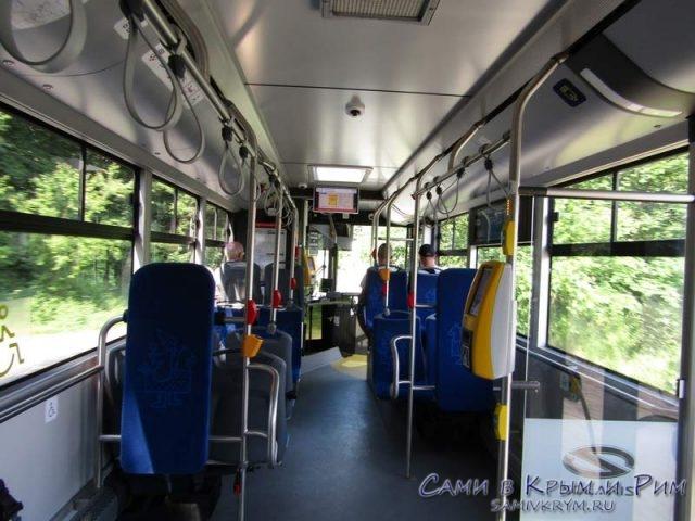 Салон краковского автобуса
