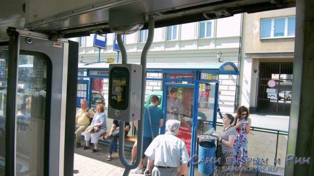 Старые трамваи в Кракове