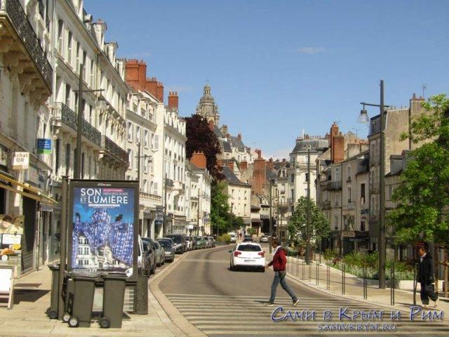 Центральная улица в Блуа к замку