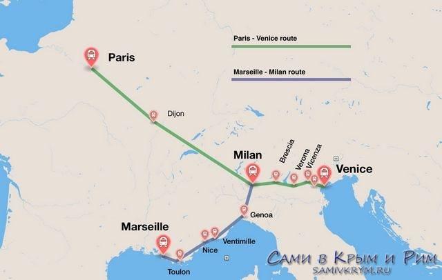 Thello_маршруты через Ниццу