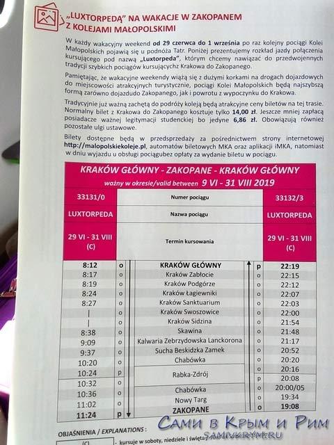 Туристический-поезд-из-Кракова-в-Закопане