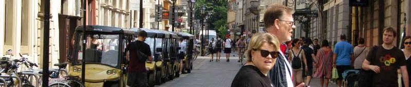 Туристы в центре Кракова