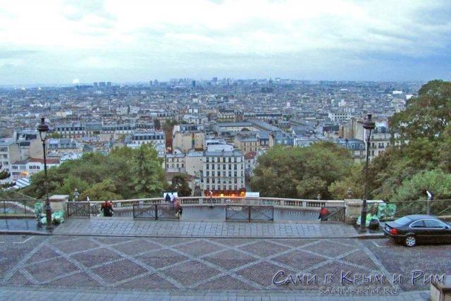 Вид на Париж со смотровой Сакр-Кер