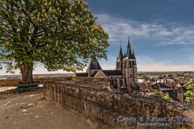 Вид на город Блуа с террасы замка