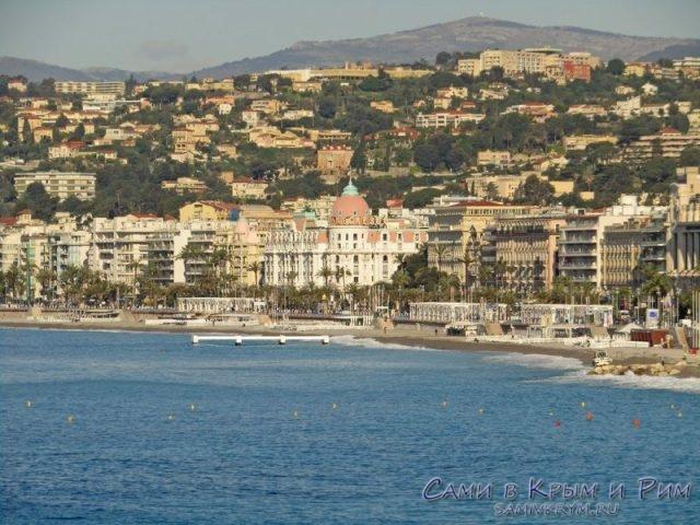 Вид на побережье Ниццы