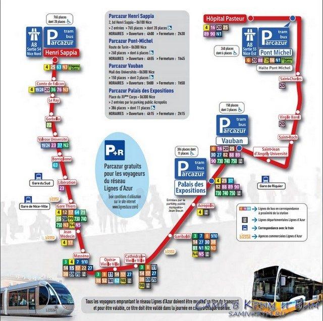 Parcazur система парковок в Ницце
