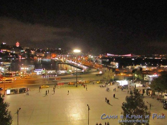 Вечерняя атмосфера у Галатского моста