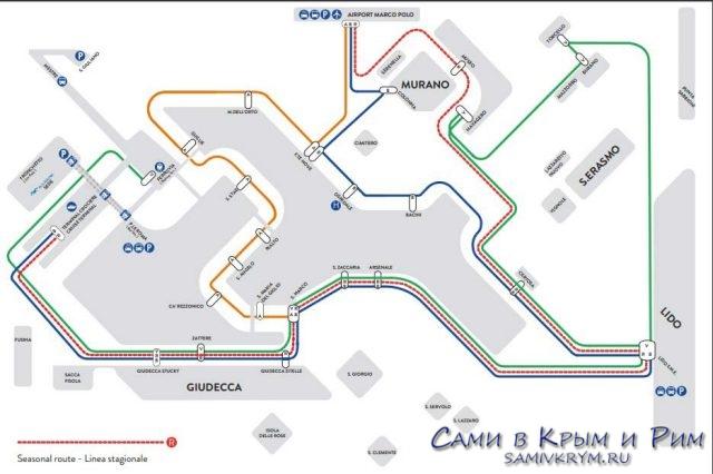 Allilaguna схема маршрутов