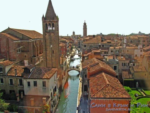 Ca'Rezzonico-вид на город
