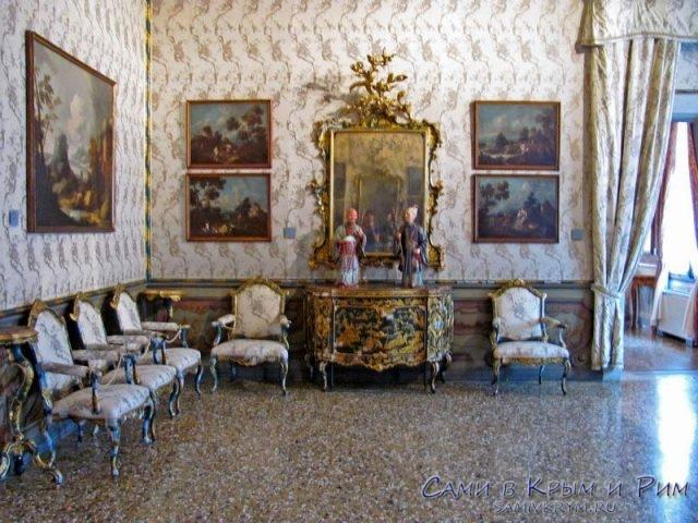 Ca'Rezzonico-внутренние залы дворца