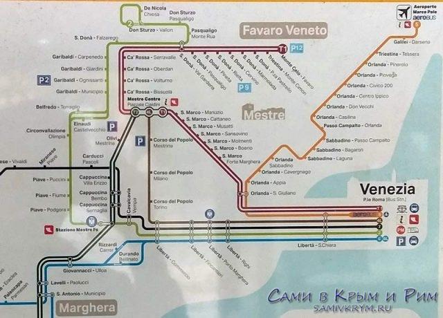 Карта-маршрутов-в-Местре-и-в-Венецию
