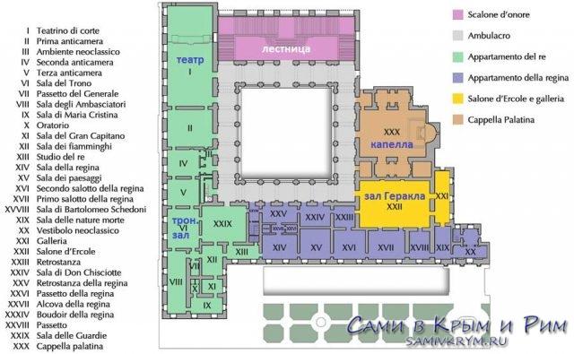 План-Королевского-дворца-в-Неаполе