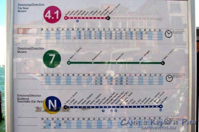 Расписание-и-график-маршрутов-вапоретто