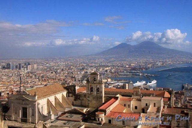 Вид с холма Вомеро на Неаполь