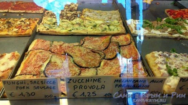 Цены на пиццу в Риме