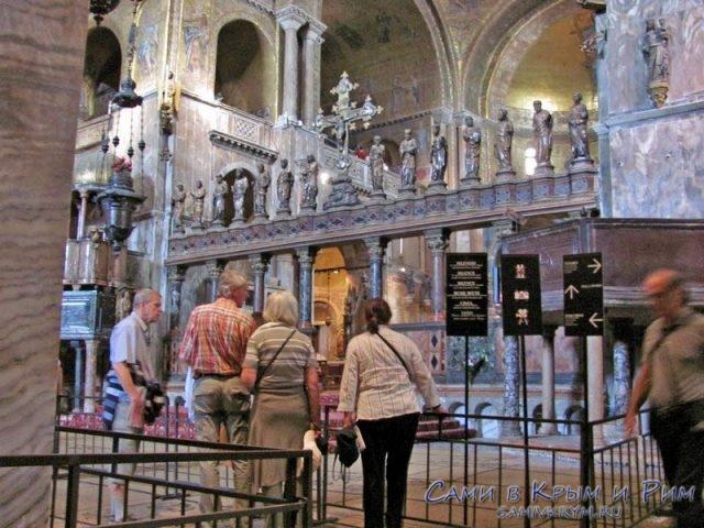 В соборе Сан Марко когда нет туристов