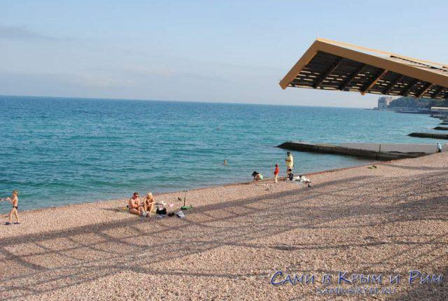 Галька на пляжах Гурзуфа