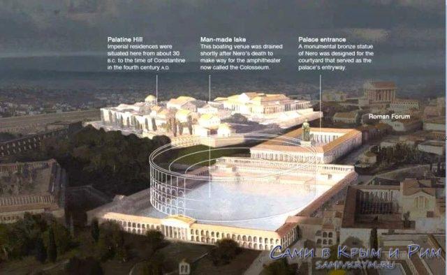 Колизей на месте дворца Нерона