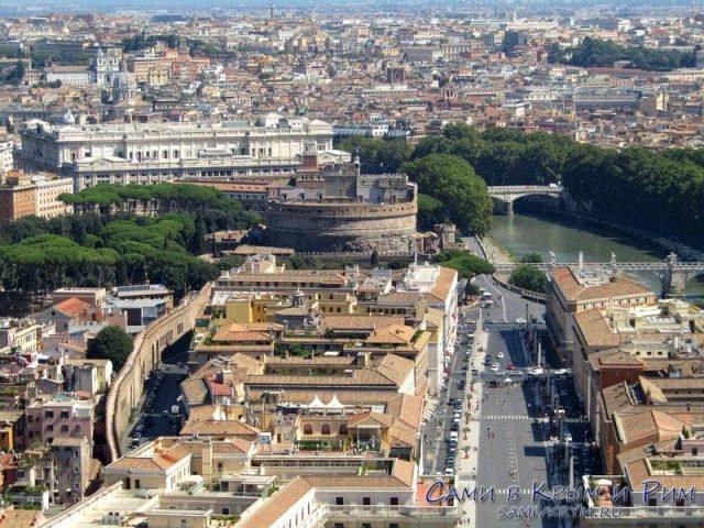 Район Рима рядом с замком Святого Ангела