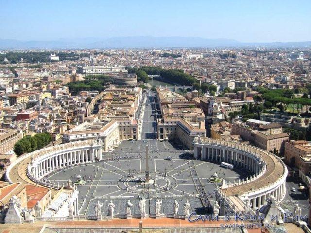 Вид с крыши Собора Святого Петра
