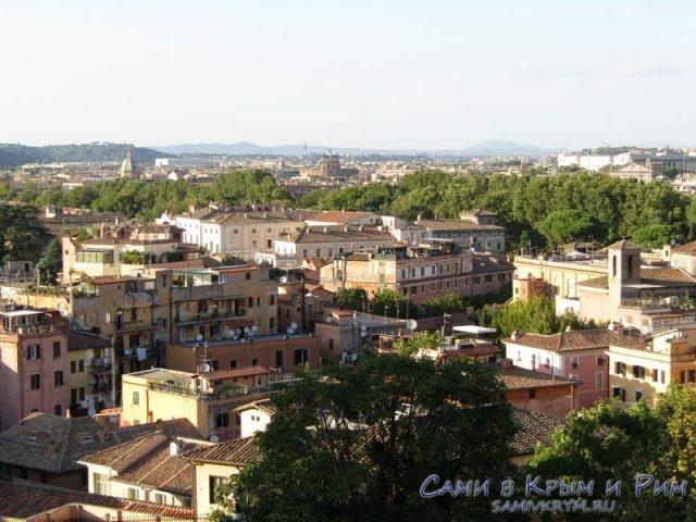 Вид сверху на район Трастевери