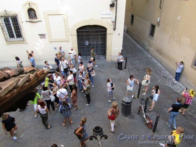 Туристы заблудились во Флоренции