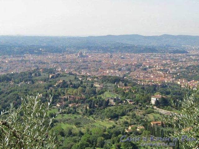 Вид на Флоренцию из Фьезоле