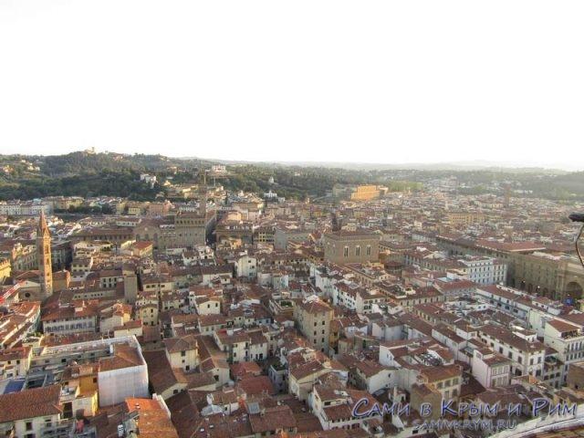 Вид на Флоренцию сверху