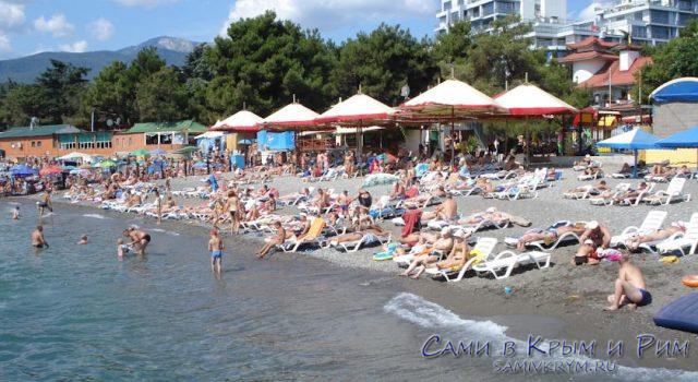 Пляж отеля Демерджи