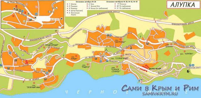 Алупка-карта