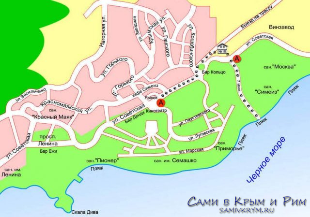 Симеиз-карта