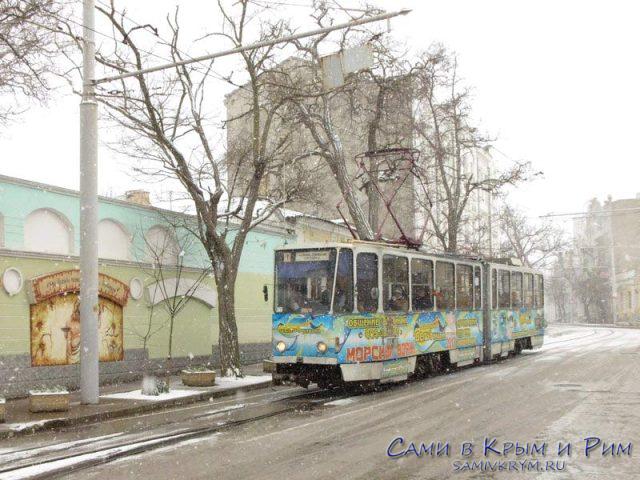 Трамваи в Евпатории