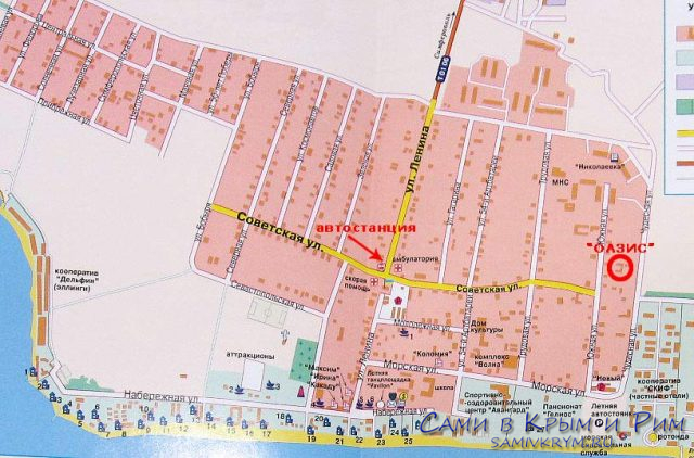 Николаевка-карта