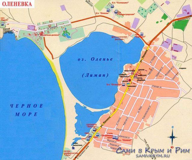 Оленевка карта