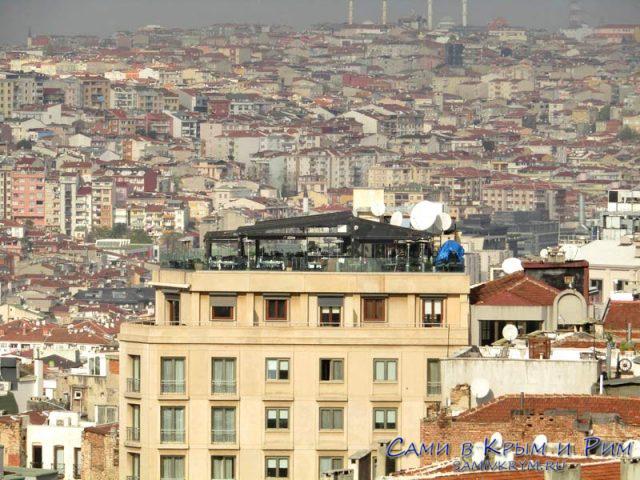 Рестораны Стамбула на крышах домов