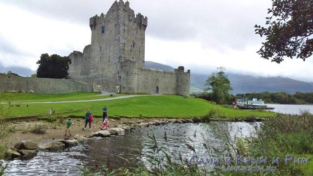 Замок Росс и причал для лодок