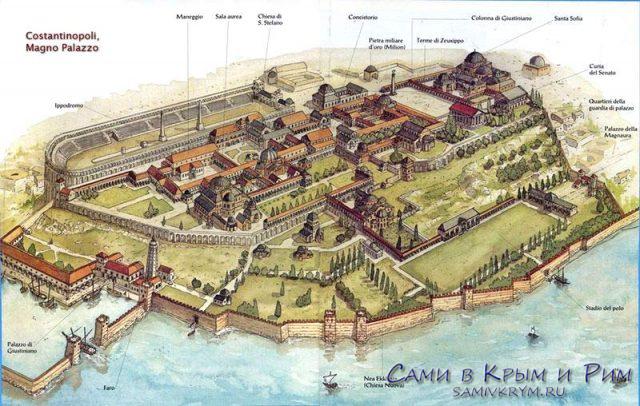 План-Большого-дворца-в-Константинополе