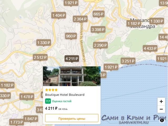 Hotellook карта поиска отелей