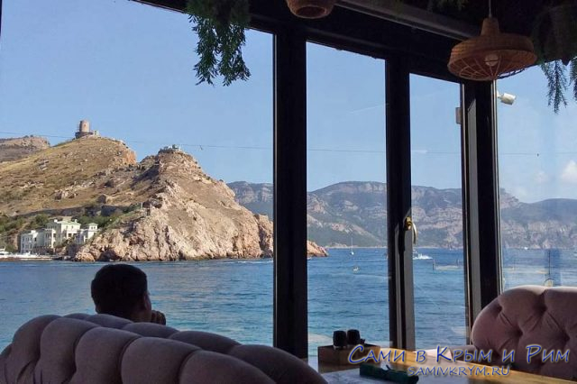 Вид из ресторана Облака